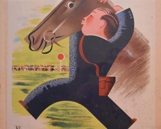 Vintage Loterie Nationale / Grand Prix de Paris Horse Racing Poster
