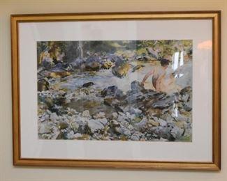Framed Watercolor / Artwork, Signed by Artist