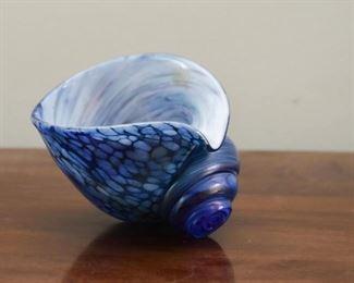 Art Glass Seashell Paperweight