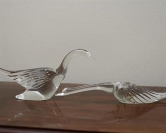 Art Glass Swans