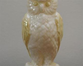 Belleek Owl Vase