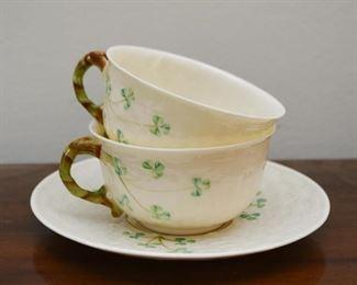 Belleek Shamrock Teacup