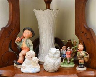 Lenox Vase, Hummels, Figurines