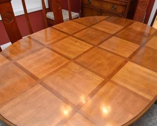 Vintage Dining Table (Bamboo Motif)