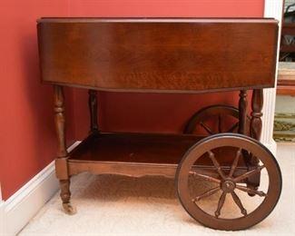 Vintage Tea Cart / Butler's Cart (Drop Leaf)