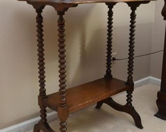 Antique Turned Spindle Leg Table (there are 2 of these)