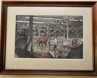 Framed Art Print (Horses)