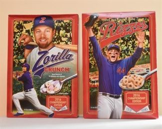 2016 Baseball Championship Cereal Boxes