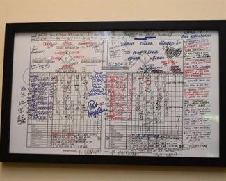 Chicago Cubs World Series Scorecard, Framed