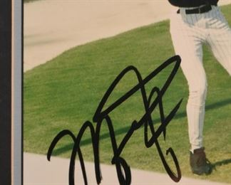 Michael Jordan Baseball Autographed Photo, Framed