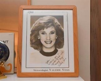 Valerie Voss, Meteorologist, Autographed Photo