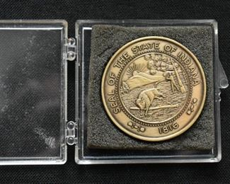 Seal of Indiana Medallion