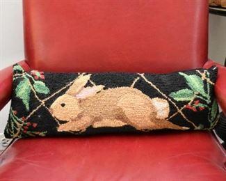 Hooked Rabbit Pillow