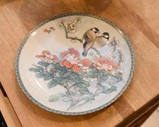 Chinese Chickadees Plate