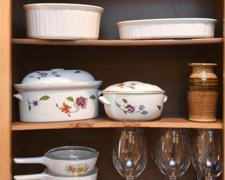 Baking Dishes, Casseroles, Corningware, Stemware