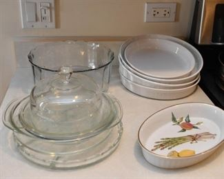 Baking Dishes, Glass Bowls & Platters, Cheese Dome
