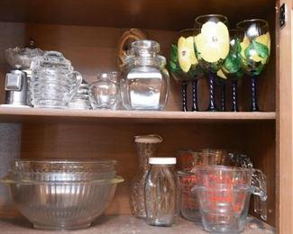 Glassware, Bowls, Measuring Cups, Jars, Stemware, Etc.