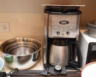 Mixing Bowls, Cuisinart Coffee Machine