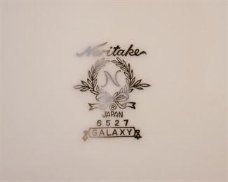 Noritake China Set (Galaxy Pattern - White with Silver Detail)