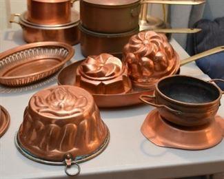 Copper Pans & Molds