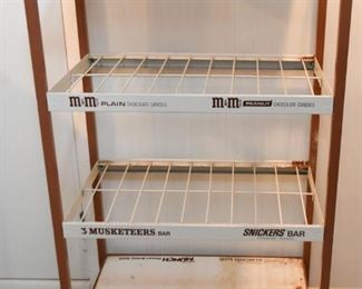 General Store Candy Bar Display Rack (Milky Way, 3 Musketeers, M&M's, Snickers)