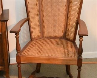 Vintage Chair with Cane Back & Seat
