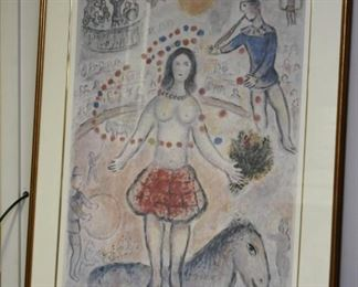 Framed Marc Chagall Lithograph, Signed & Numbered 1 / 1000
