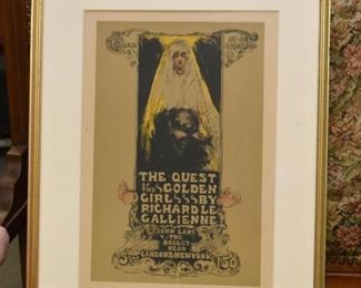 Framed Book Advertising Poster - The Quest of the Golden Girls