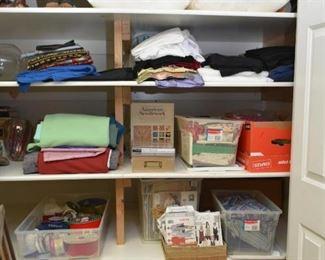 2 Closets Full of Craft Supplies