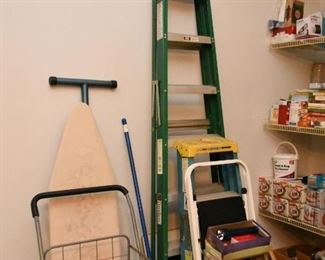 Aluminum Ladders, Ironing Board, Household Goods