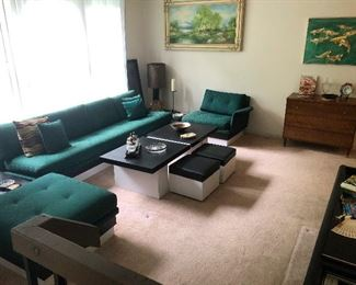 MCM Modular Floating Platform Sectional Sofa in Emerald Green -- if you don't buy this I WILL!