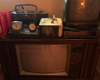 vintage TVs and travels clocks!