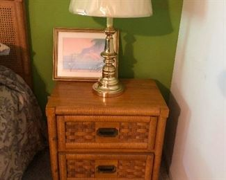 cool vintage faux bamboo bedroom suite