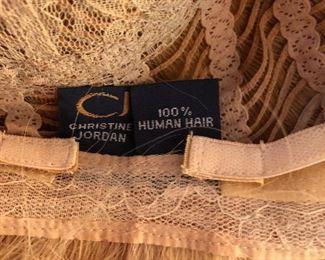 Lots of wigs. Christine Jordan 100% human hair