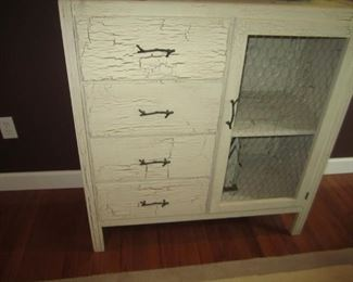 WHITE CRACKLED CABINET