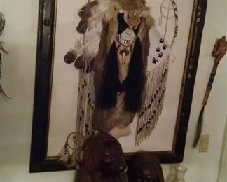 Native American wood head carvings and art 200