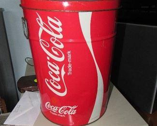 Coca Cola waste can