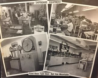 These Photos in the Personal Library of our Veteran a WWII, Korean & Vietnam Veteran Cherished for Years. Shipboard Equipment, Fixed Base Type Gear. Not Van Mountable.