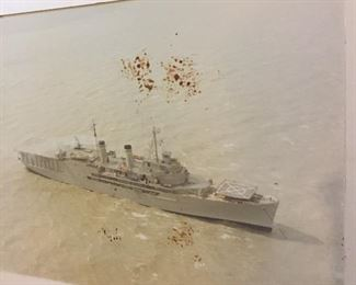These Photos in the Personal Library of our Veteran a WWII, Korean & Vietnam Veteran Cherished for Years. We Believe this to be the U.S. Corpus Christi By the Bay Ship.