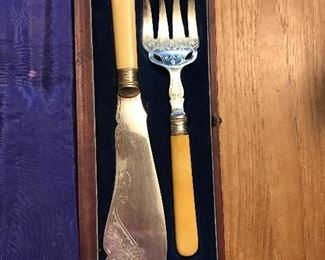 Vintage knife and fork set