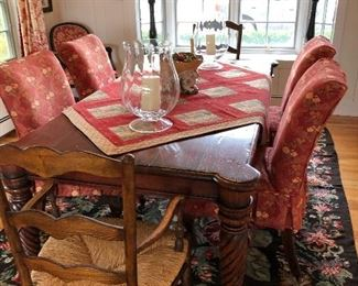 Stunning Island broad table with assorted dining chairs to mix or match