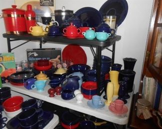 Pitchers, plates, cups, saucers, etc. etc.