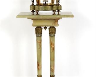 French Onyx Brass Clock  Stand