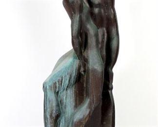 Large Joseph Csaky Le Baiser Bronze Sculpture