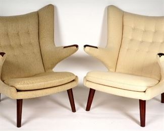2 Hans Wegner Papa Bear Chairs