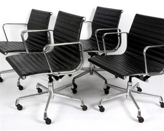 4 Eames Aluminum Group Office Chairs