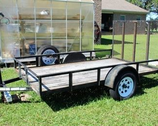 Trailer with new tires and ramp