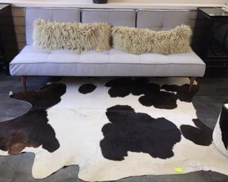 Cow hide rug - futon