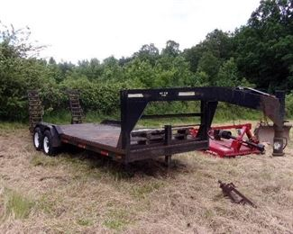 20ft Flatbed Trailer, Dove Tail Ramps