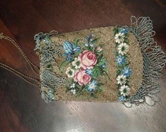 Antique beaded handbag
